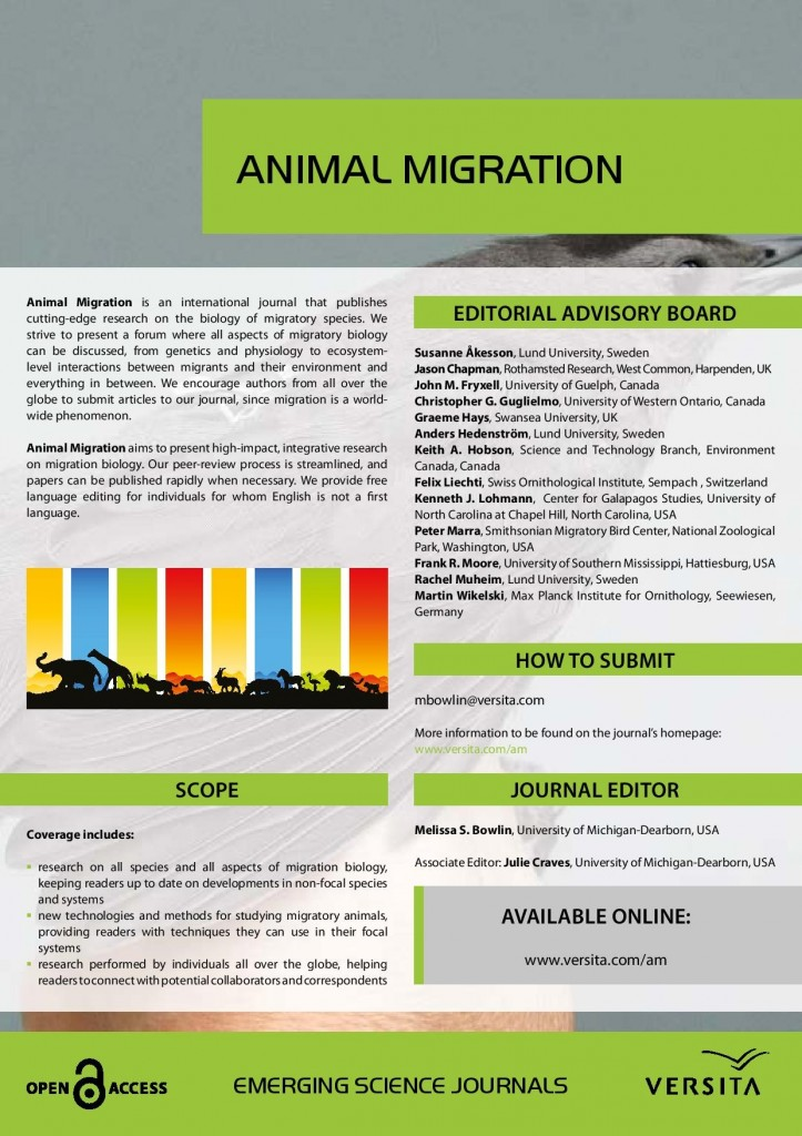 Animal Migration journal fact sheet