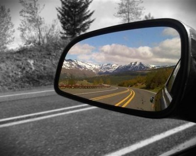 car mirror blind spot reflection